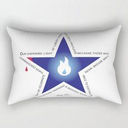 Remember your Veteran with an honor Star. Rectangular Pillow