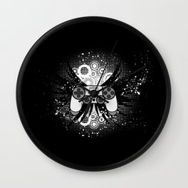 Gaming Game Gamer Geek Console Funny Nerd Gift Wall Clock
