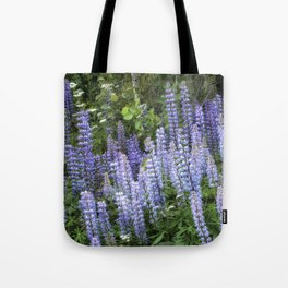 Lupins in Blue and Purple Tote Bag