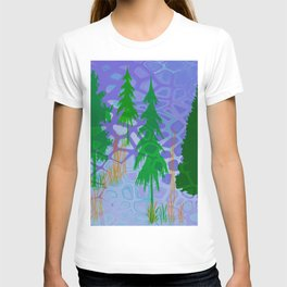 Blue In the woods T-shirt