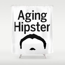 Aging Hipster Shower Curtain
