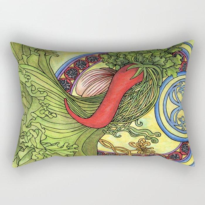Art nouveau. Spices and vegetables Rectangular Pillow