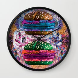 black burger doom zone Wall Clock