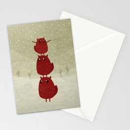Stacked beavers Stationery Cards