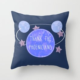 Thank the Phoenicians Space- Florida Theme Park Attraction Quote Throw Pillow