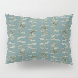 Eucalyptus Patterns with Aqua Background Realistic Botanic Patterns Organic & Striped Patterns Pillow Sham