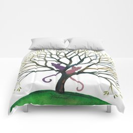 Maryland Whimsical Cats in Tree Comforters