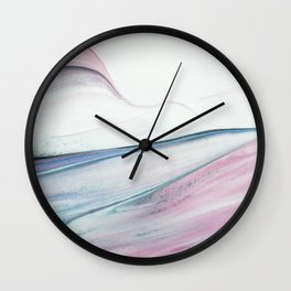 Waves of paint Wall Clock