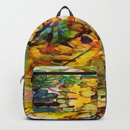 Abstract Colorful Ink Painting Backpack