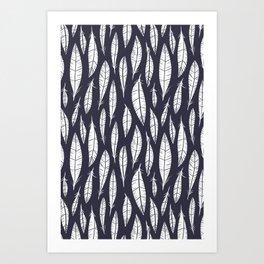 Quail Feathers (Midnight) Art Print