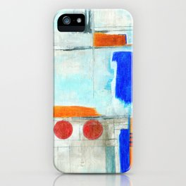 Nautical Intentions, Abstract Art Painting iPhone Case