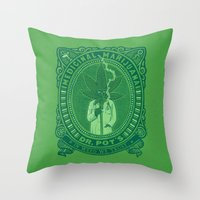 marijuana Throw Pillows featuring Medicinal Marijuana by victor calahan
