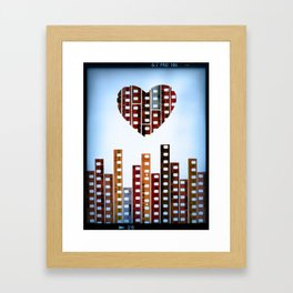 You Make This City Memorable Framed Art Print
