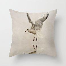 Black-headed gull Throw Pillow