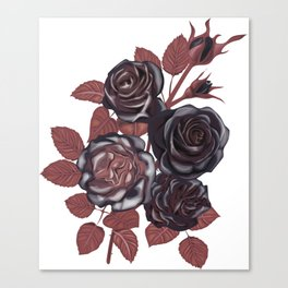 Gothic Roses. Vintage roses Canvas Print