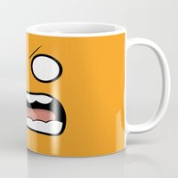 scary Mugs featuring Scary Face by Tombst0ne