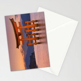 I - Miyajima torii gate near Hiroshima, Japan at sunset Stationery Cards