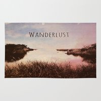 wanderlust Area & Throw Rugs featuring Wanderlust by Brianne Lanigan