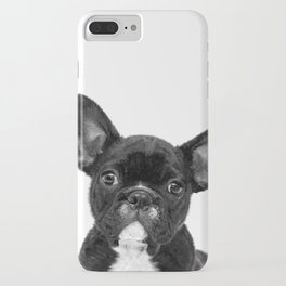 Black and White French Bulldog iPhone Case