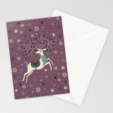 Prancing Reindeer Stationery Cards