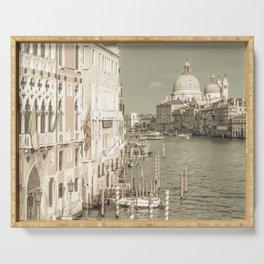 VENICE Canal Grande & Santa Maria della Salute | urban vintage style Serving Tray