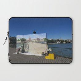 Painter On The Boardwalk (Seine, France) Laptop Sleeve