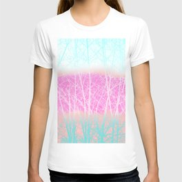 Winter Branches in Ice Cream Colors T-shirt