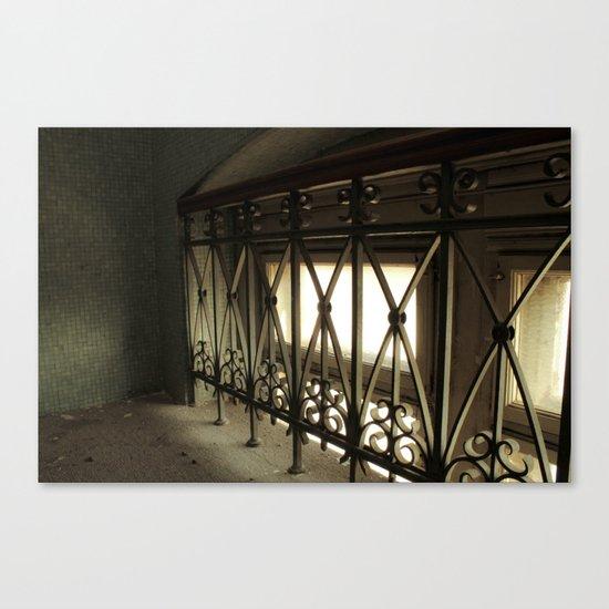 LOST PLACES - hidden bridge Canvas Print