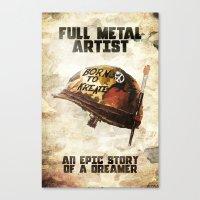 full metal alchemist Canvas Prints featuring Full metal artist by HappyMelvin