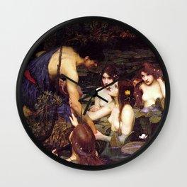 John William Waterhouse - Hylas and the Nymphs - 1896 Wall Clock