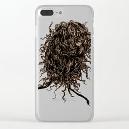 Messy dry curly hair 2 Clear iPhone Case