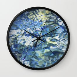 Jeweled Diamond Water Pond Wall Clock
