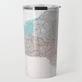 Map of the State of New York (1976) Travel Mug