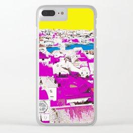 Trogir, Croatia City View Pop Art Paint on Photo Clear iPhone Case