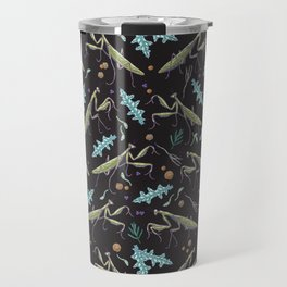 praying mantis in the dark garden Travel Mug