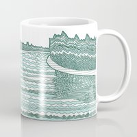 river Mugs featuring River by Anita Ivancenko