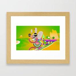 Happy Float Framed Art Print