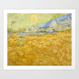 "Vincent van Gogh ""Wheat Field behind Saint Paul Hospital with a Reaper"" Art Print"