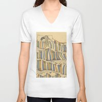 artists V-neck T-shirts featuring Ocean of love by Huebucket