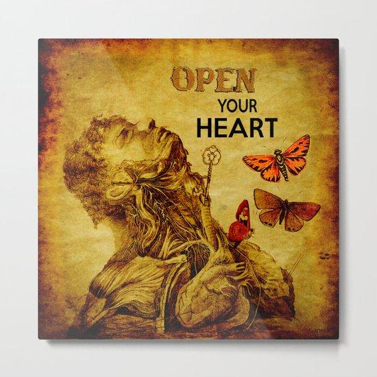 Open your Heart  Metal Print
