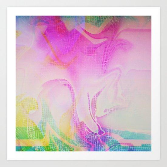 Glitch 25 Art Print