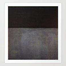Mark Rothko Black on Grey Art Print
