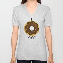 I Donut Care Unisex V-Neck
