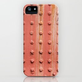 Riveted metal wall surface iPhone Case