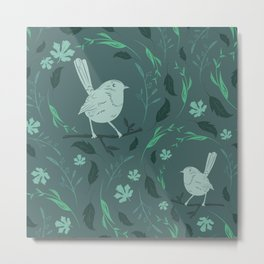 Birds Patterns Metal Print