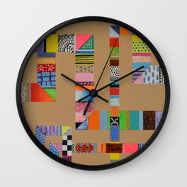 Patchwork Pipes Wall Clock