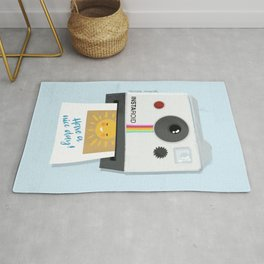 Have a nice day retro style instant camera Rug