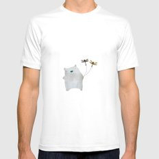 Bear and friends White MEDIUM Mens Fitted Tee