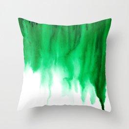 Emerald Bleed Throw Pillow