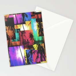 Tree Patterns with Sunset Stationery Cards